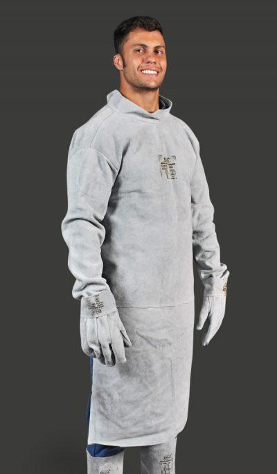 Avental de Raspa com Mangas tipo Barbeiro (Soldador)