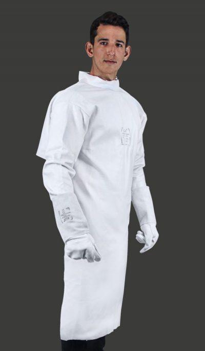 Avental de Vaqueta com Mangas tipo Barbeiro (Soldador)