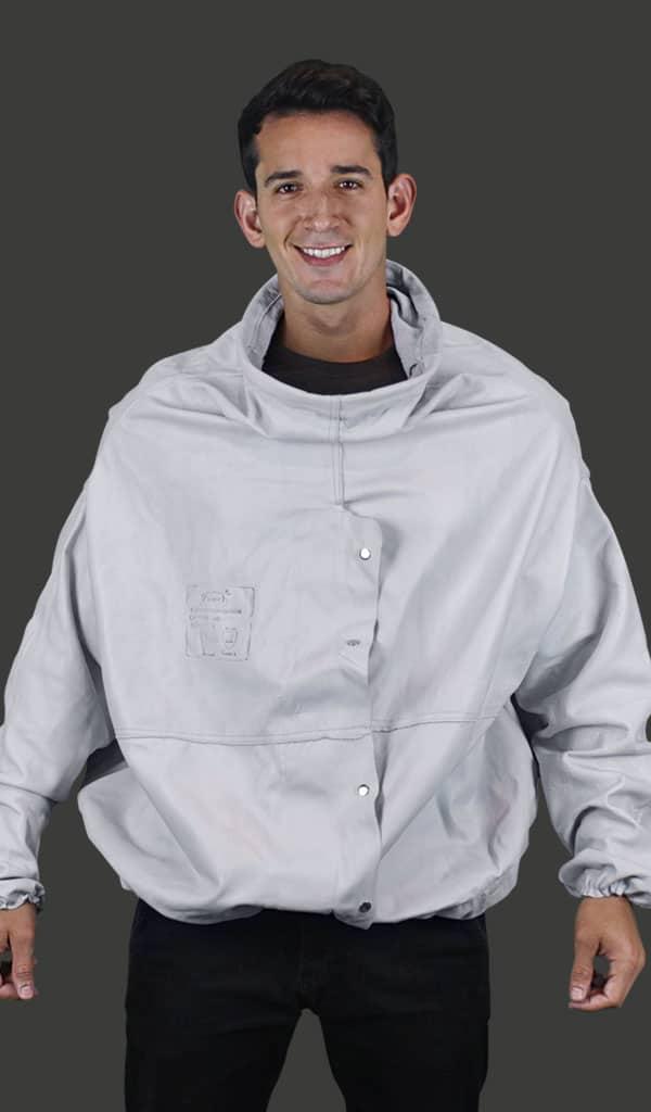 Blusão tipo Jatista de Vaqueta